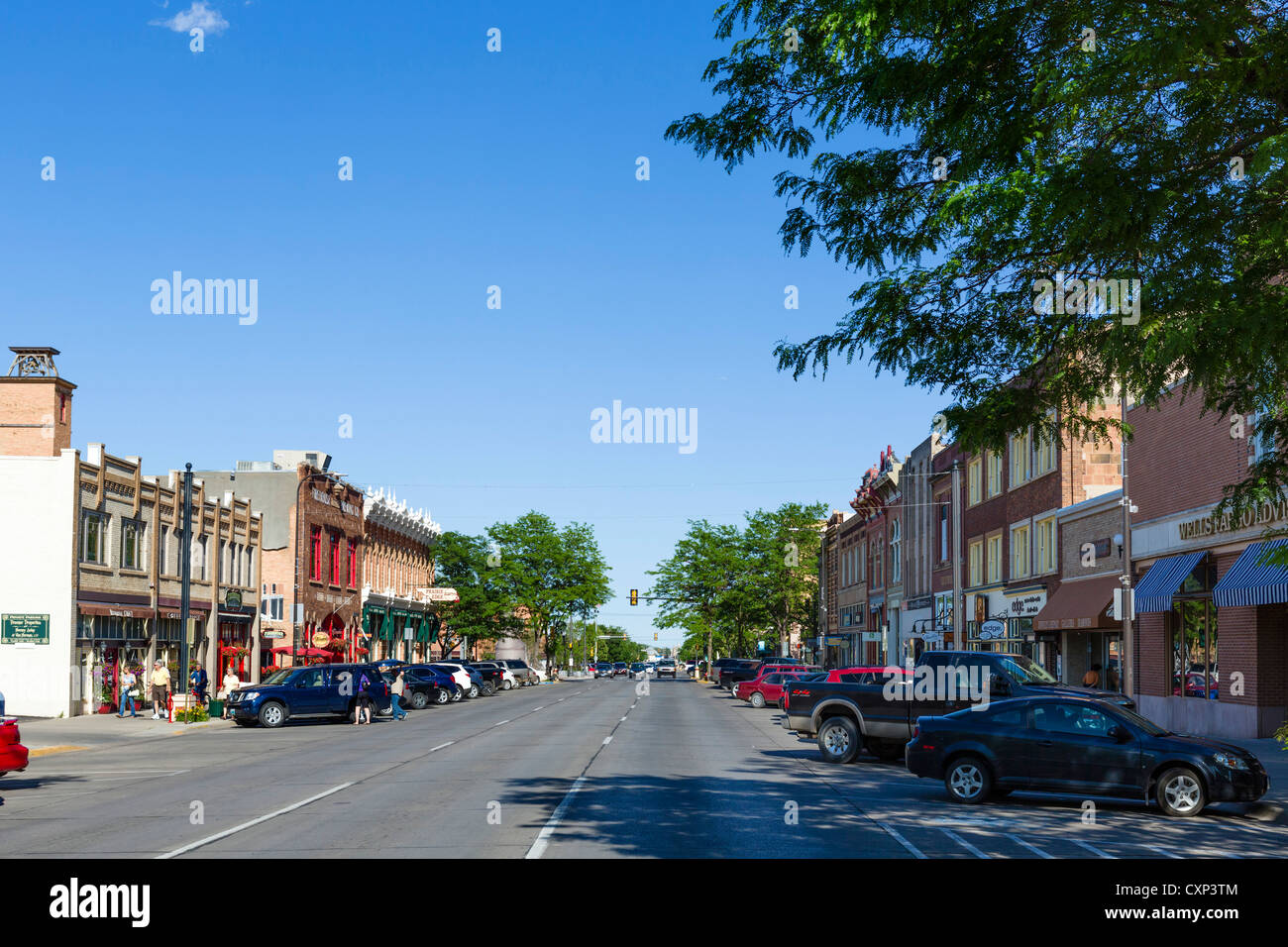 Main Street in downtown Rapid City, South Dakota, USA - Stock Image