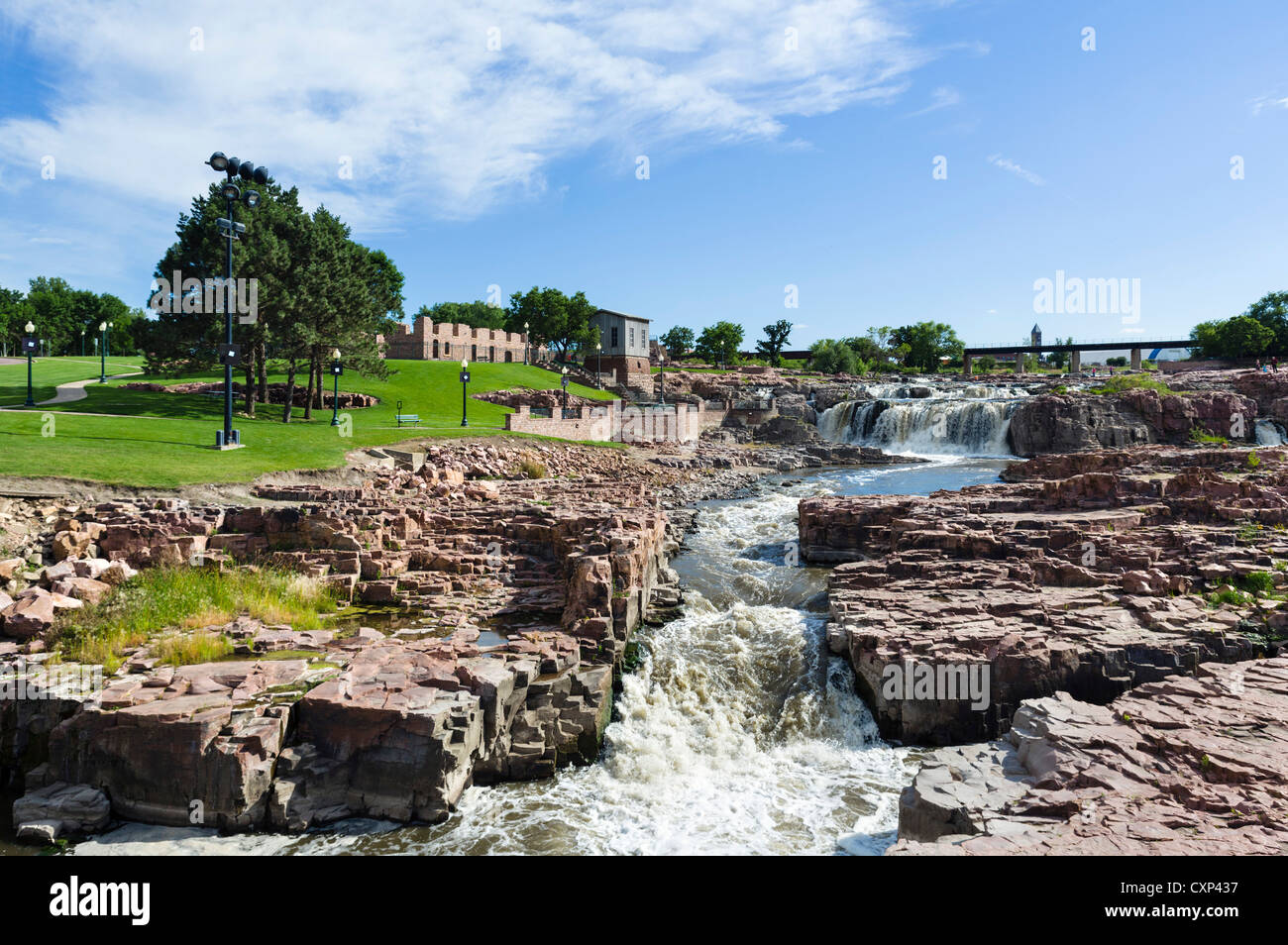 falls on the big sioux river falls park sioux falls. Black Bedroom Furniture Sets. Home Design Ideas