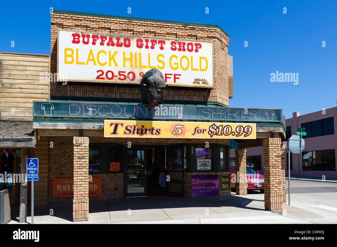 Gift shop on Main Street in Wall, South Dakota, USA - Stock Image