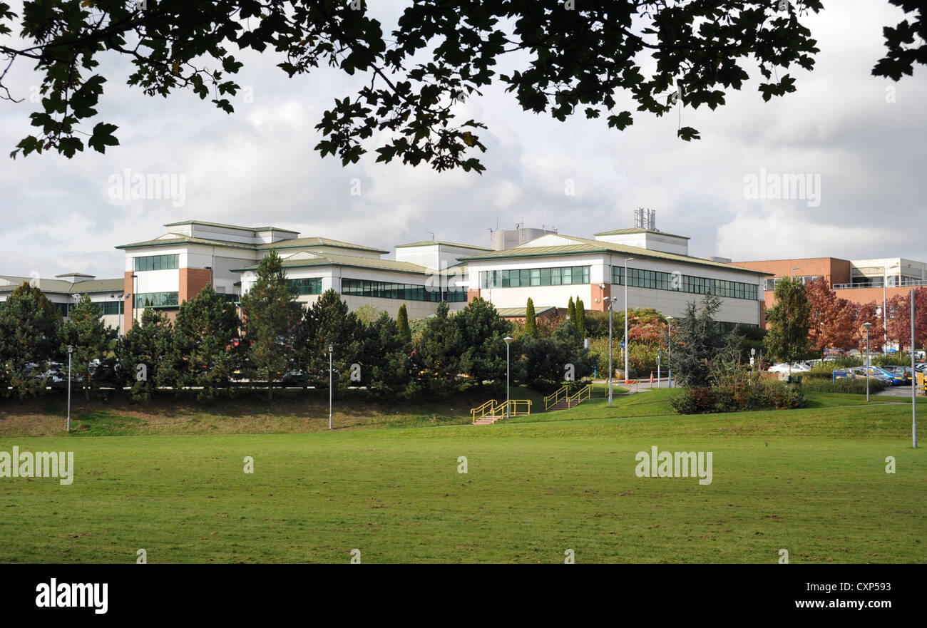 AN EXTERIOR VIEW OF STAFFORD GENERAL HOSPITAL ON WESTON ROAD STAFFORD ,STAFFORDSHIRE ENGLAND UK - Stock Image