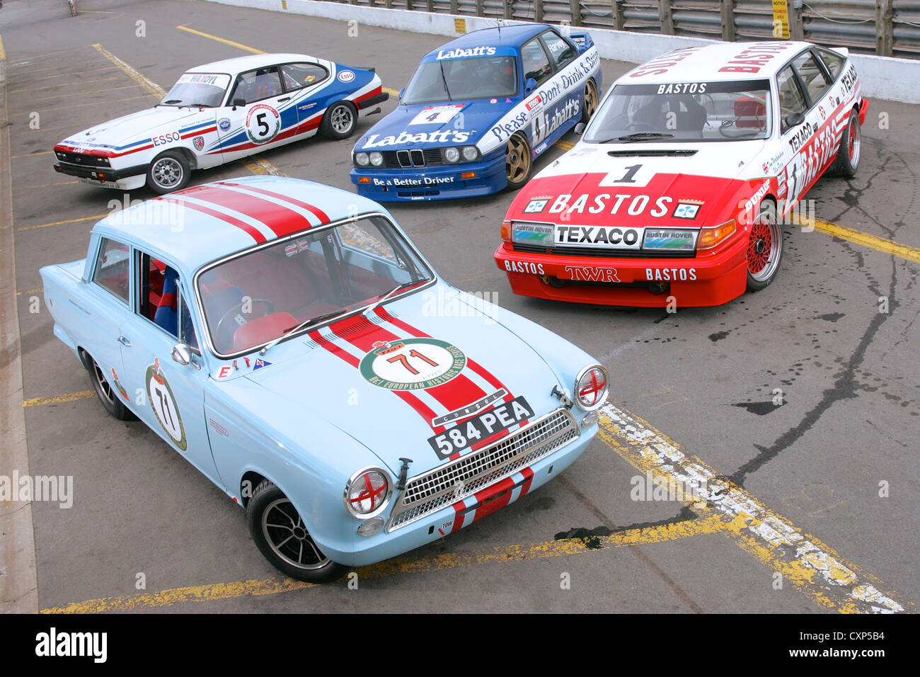 Group Photograph Of Classic Race Cars Stock Photo Alamy