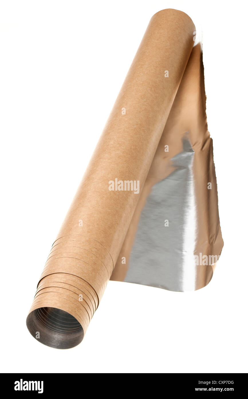 Roll of Parch foil - Stock Image