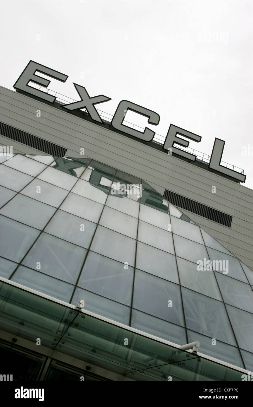 Front entrance to Excel Centre London, UK - Stock Image