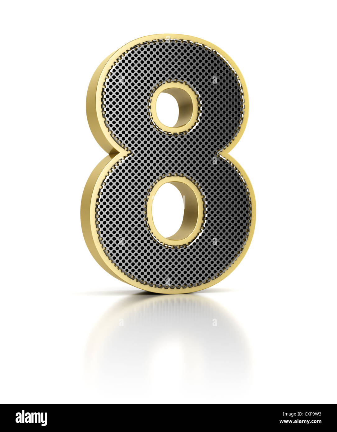The number eight - Stock Image