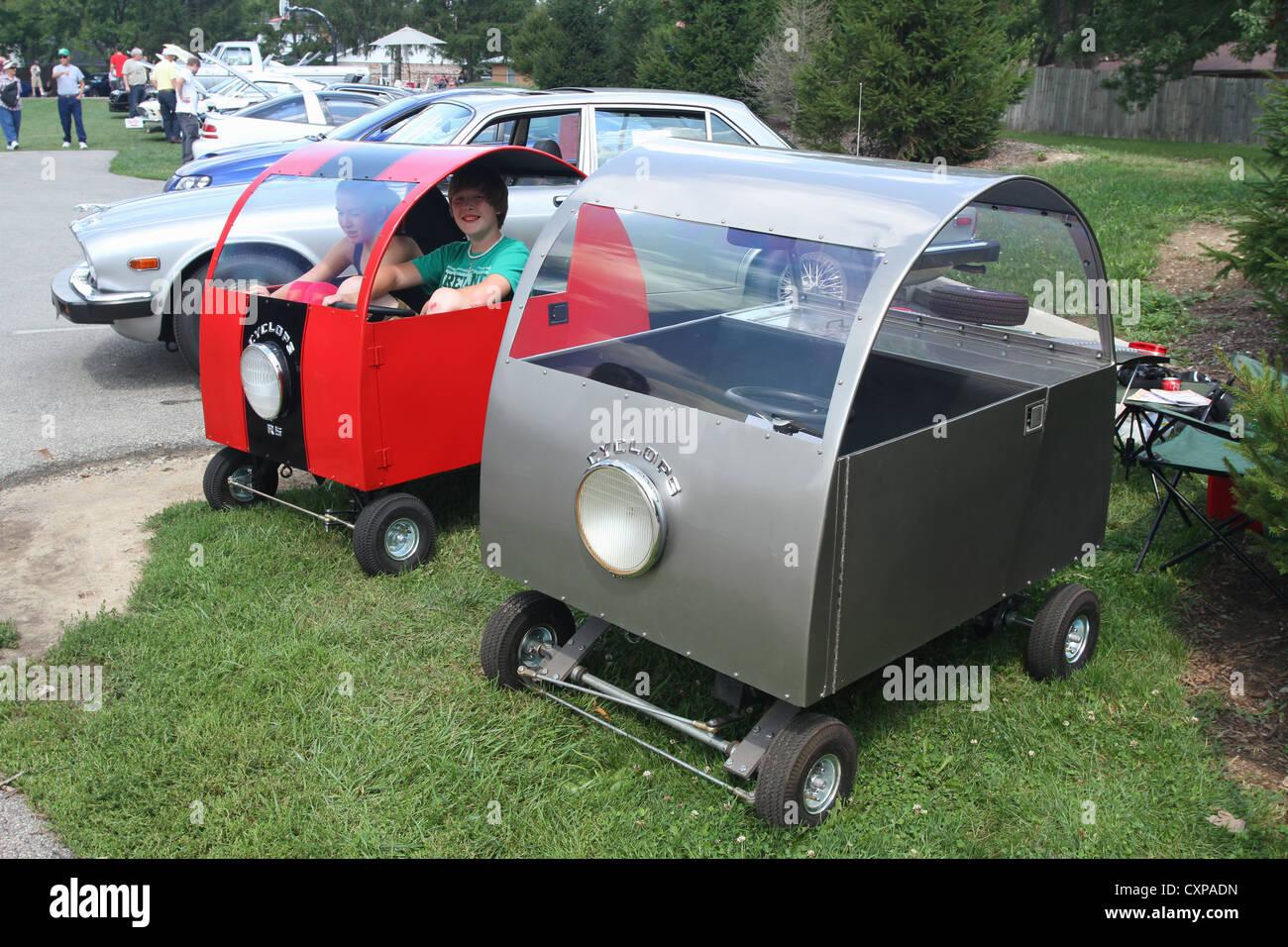 Cyclops car. Beavercreek Popcorn Festival Car Show. Beavercreek Popcorn Festival, Beavercreek, Dayton, Ohio, USA. - Stock Image