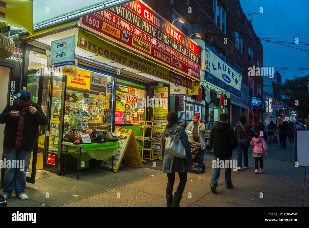 New York City, NY, People Walking on Street, Food Markets