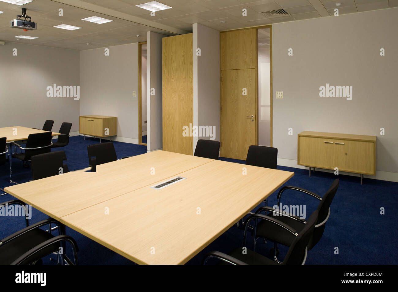 contemporary office interiors. modern contemporary office - stock image interiors
