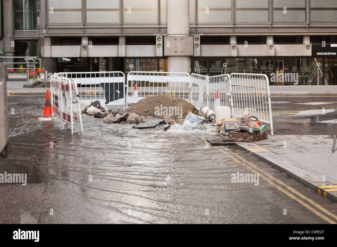 Water leak, London, UK - Stock Image