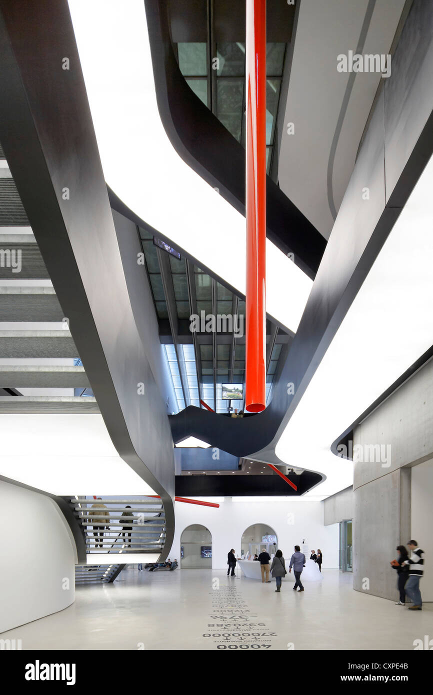 MAXXI – National Museum of the 21st Century Arts, Rome, Italy. Architect: Zaha Hadid Architects, 2009. interior - Stock Image