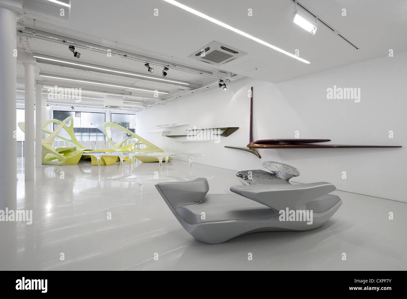 Zaha Hadid Design Gallery With Fudge Hair Pop Up Salon London Stock