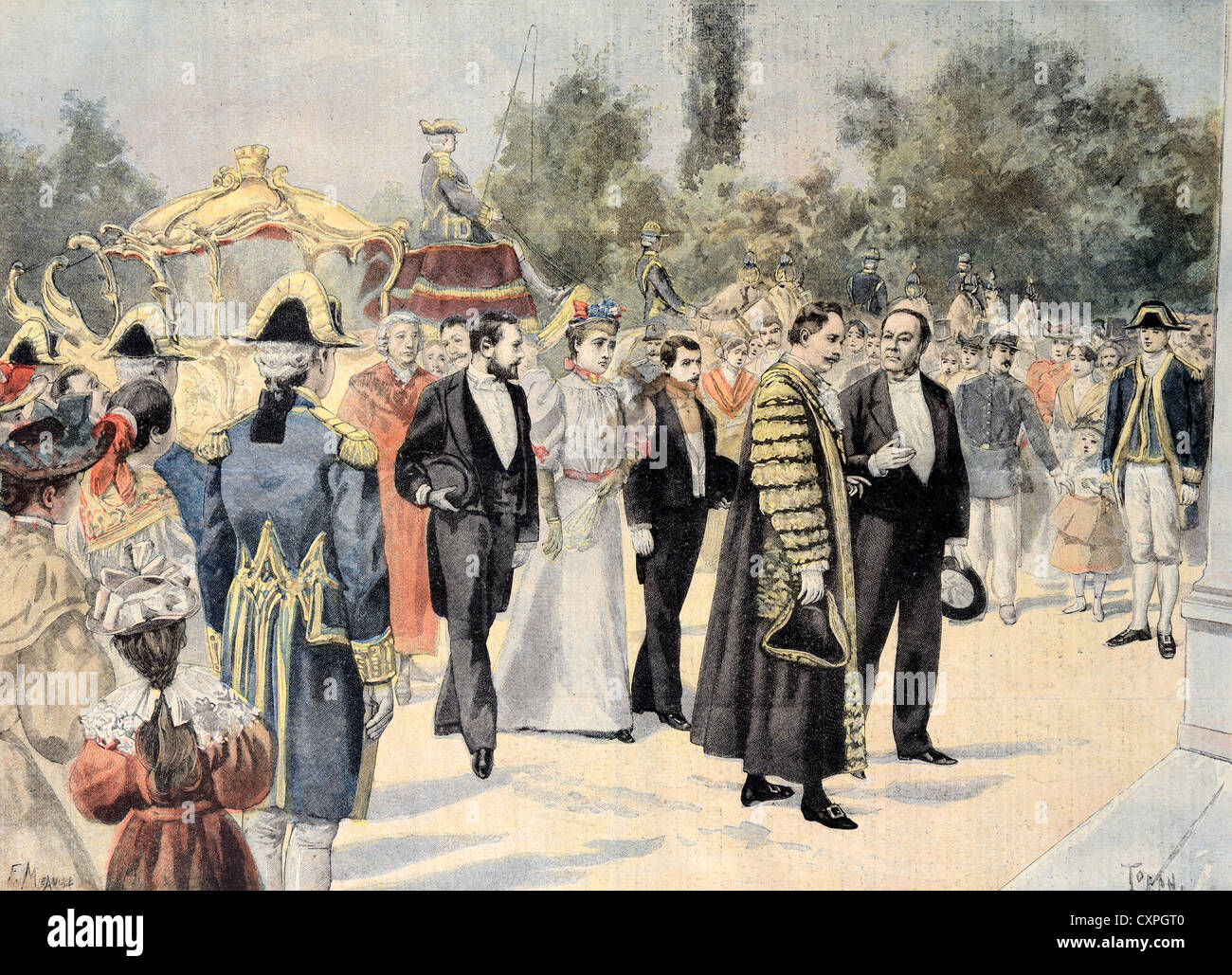 Official Visit of the Lord Mayor of London to Bordeaux (1895) France - Stock Image