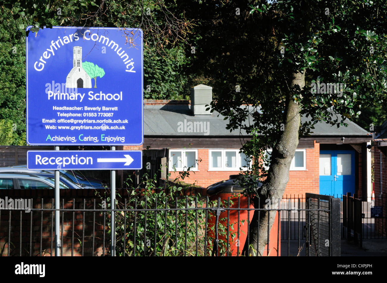 Greyfriars Community Primary School, King's Lynn, Norfolk. - Stock Image