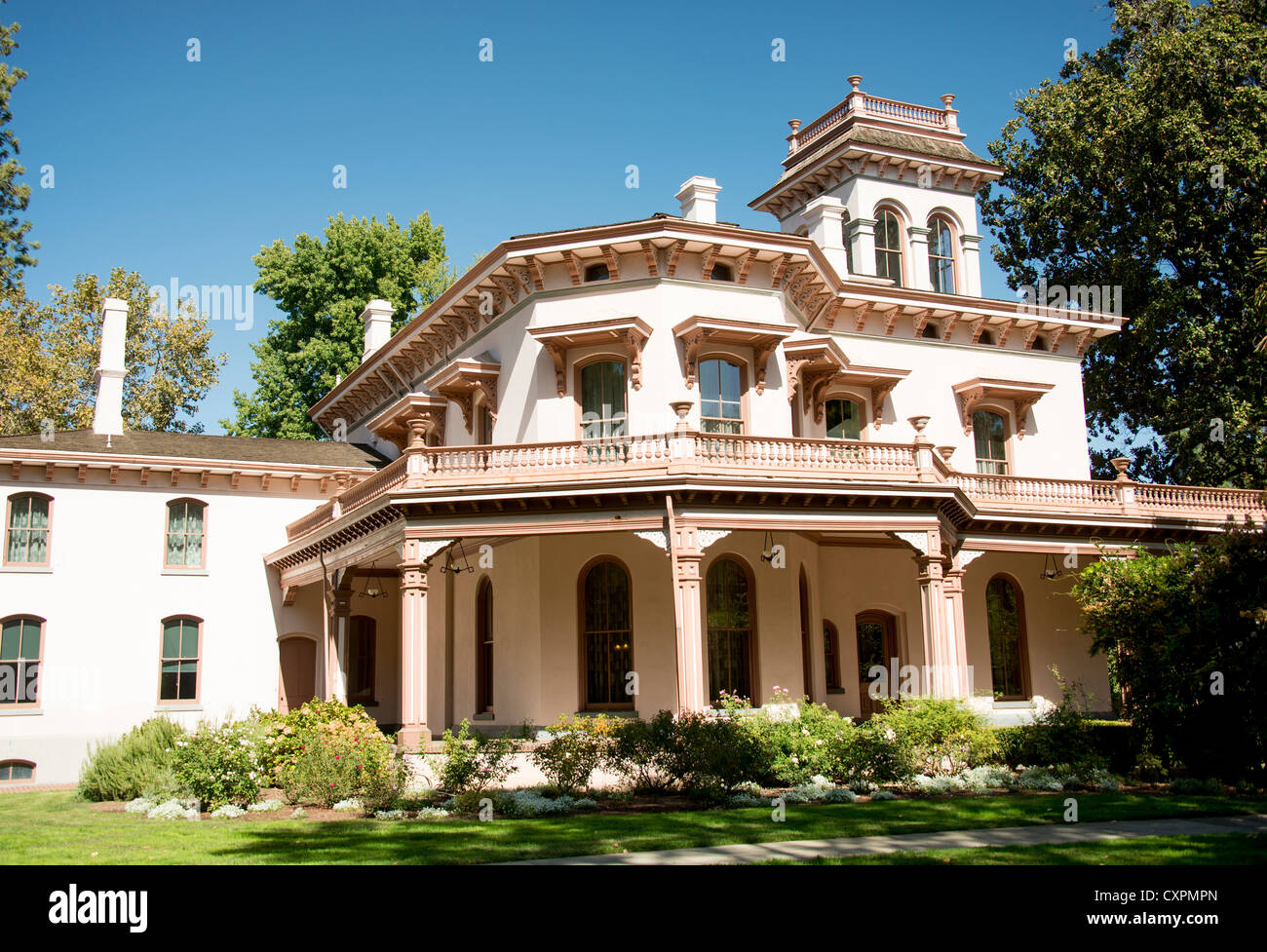 Bidwell Mansion In The Bidwell Mansion State Historic Park In Chico Stock Photo Alamy