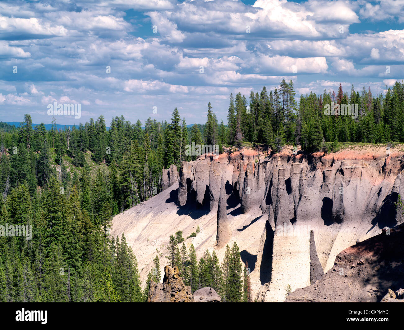 The Pinnacles at Crater Lake National Park, Oregon - Stock Image