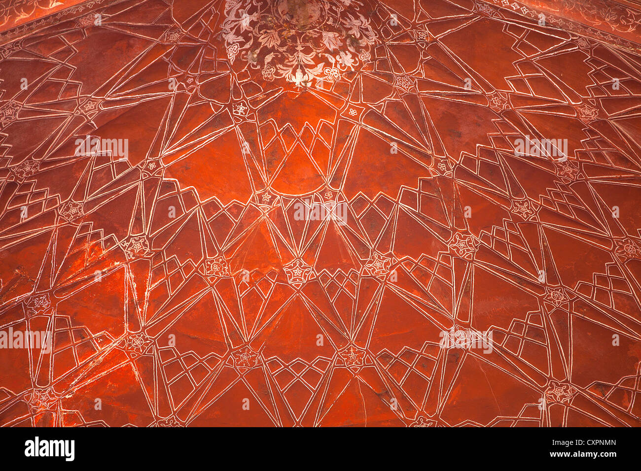 Ceiling of the Mosque at the Taj Mahal, Agra, India - Stock Image