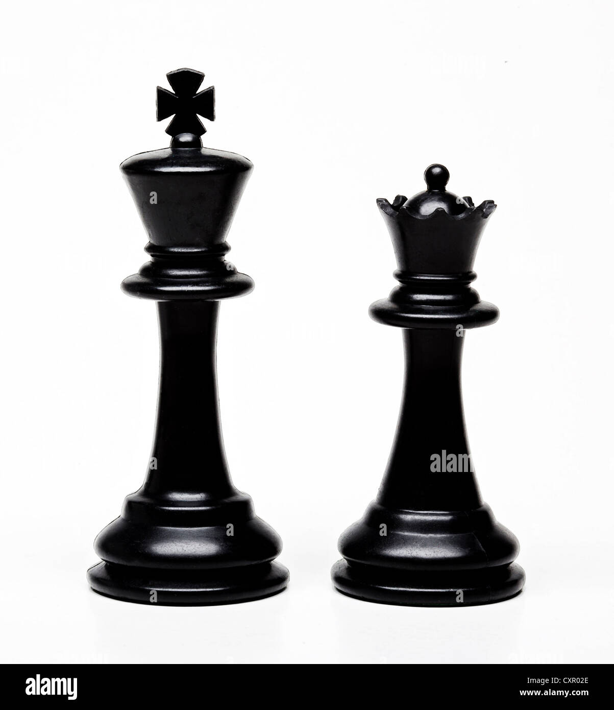 Chess king and queen pieces - Stock Image