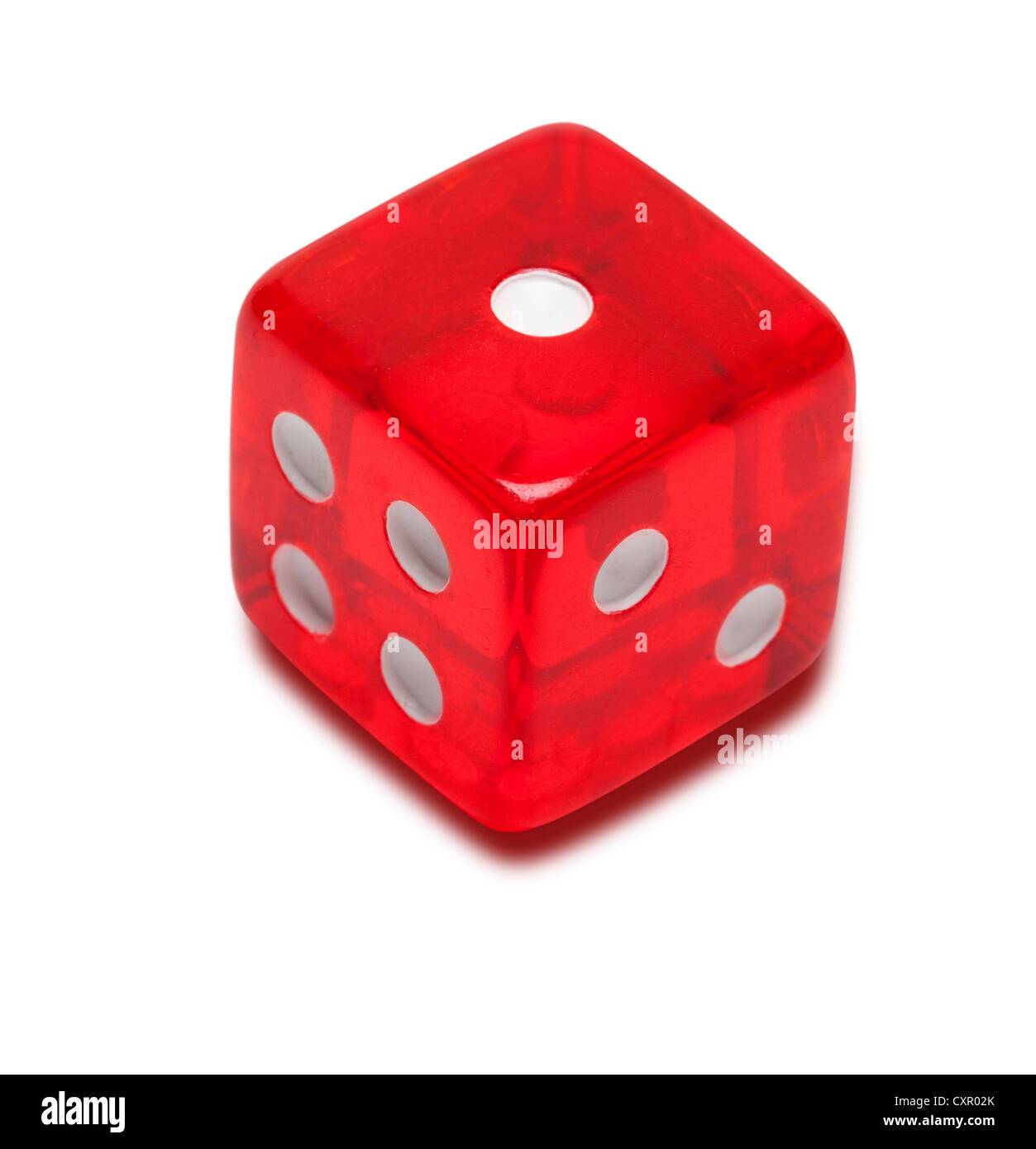 Red dice - Stock Image