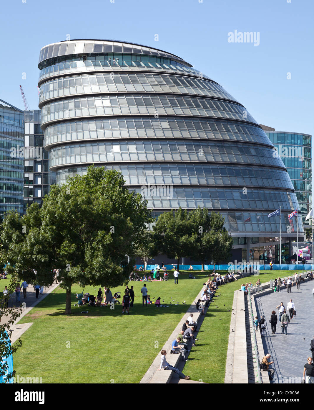 GLC Building in summer - Stock Image