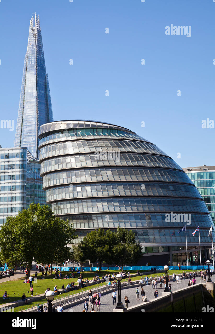 GLC Building with Shard in background - Stock Image