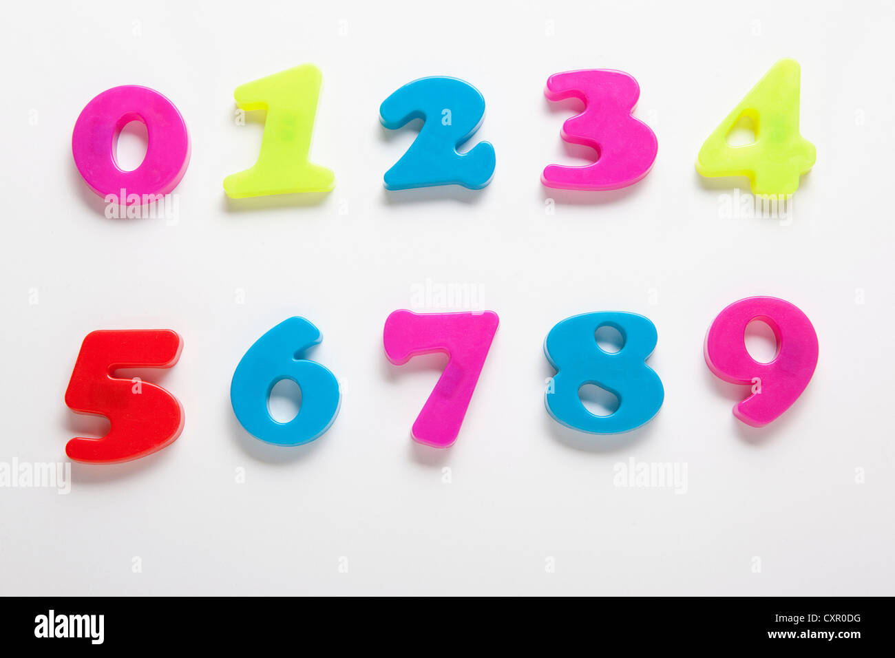 Fridge magnet numbers - Stock Image