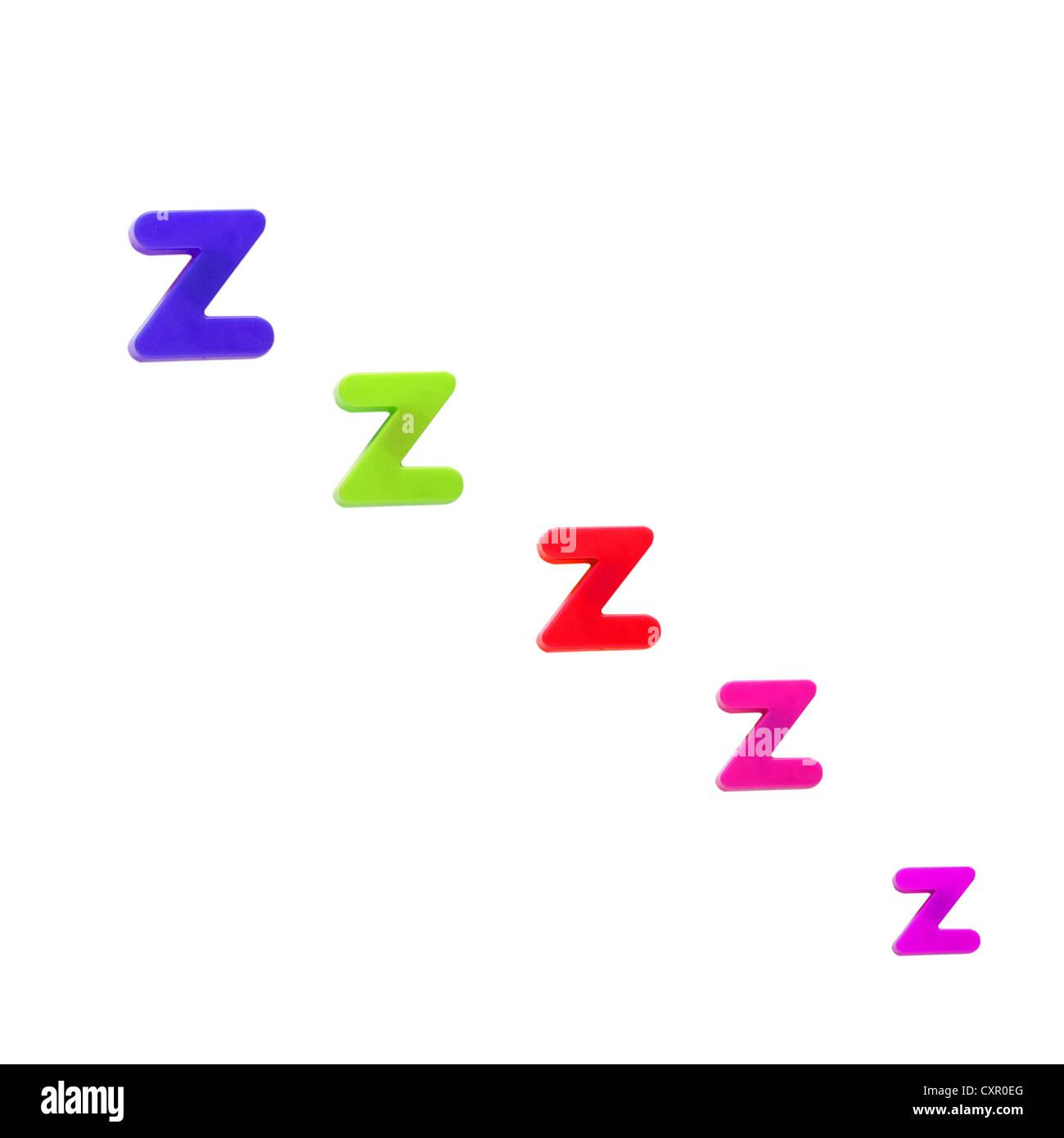 Letter Z fridge magnets - Stock Image