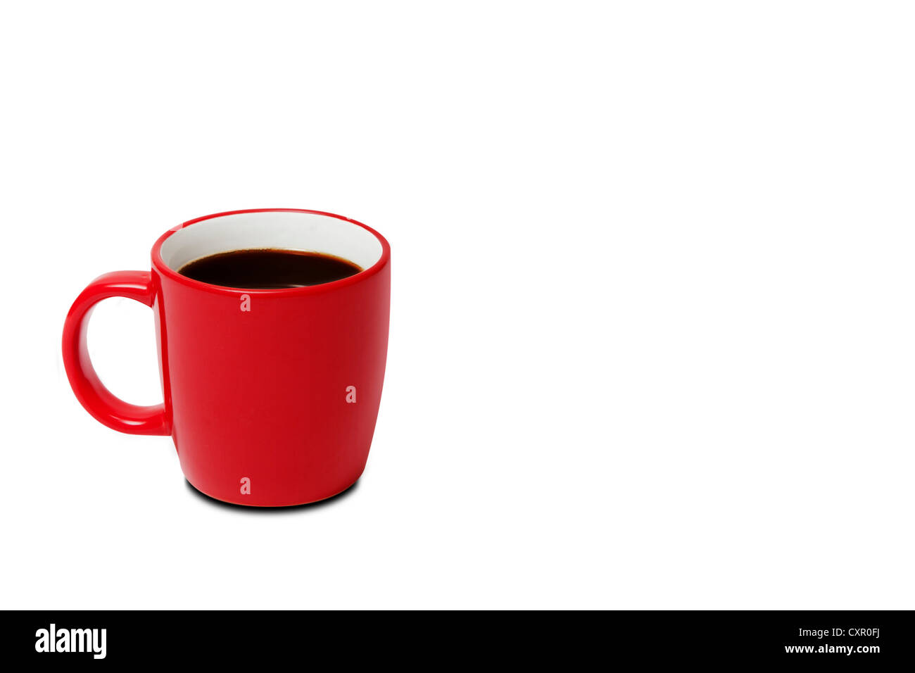 Red cup of coffee - Stock Image