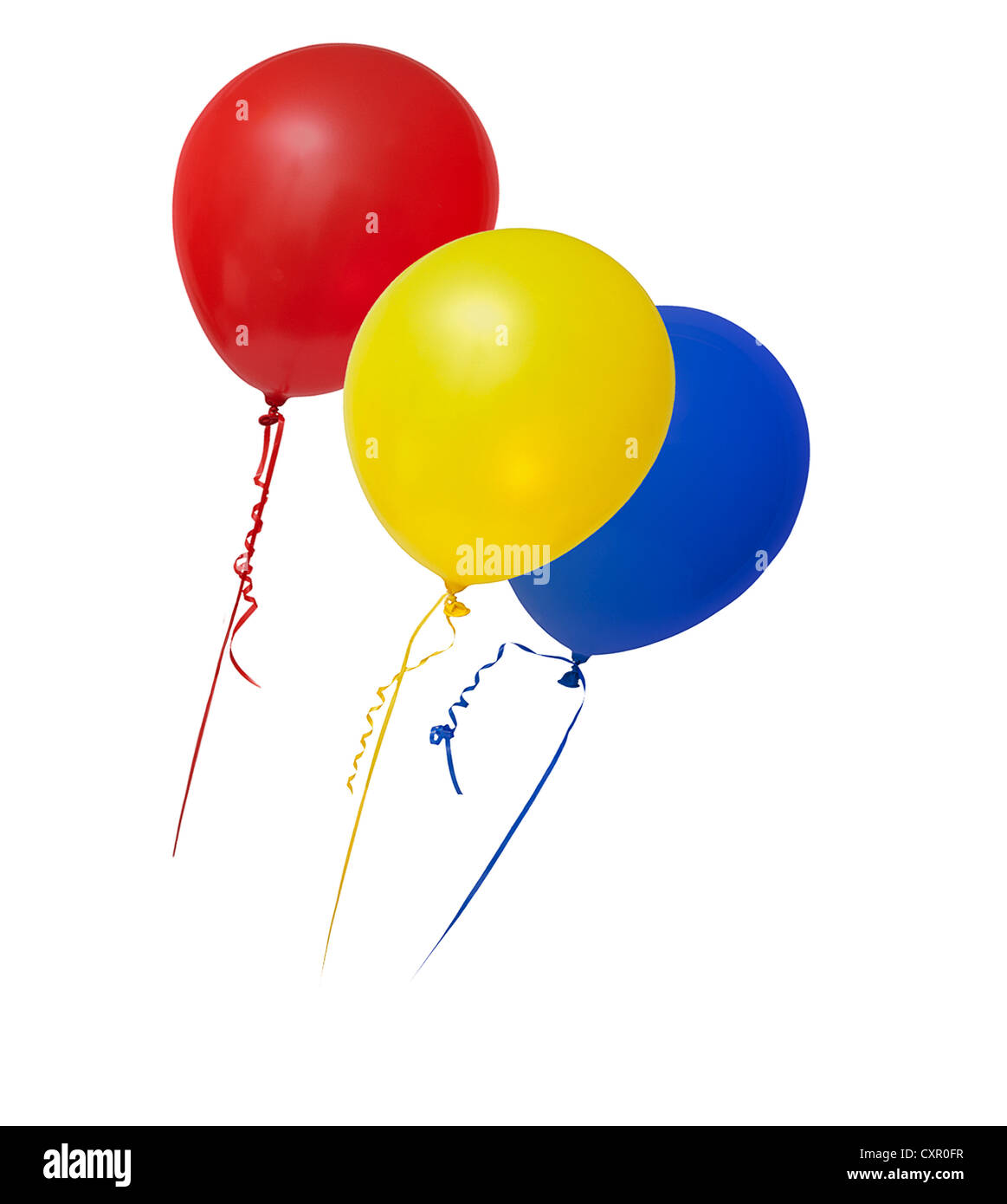 Balloons in primary colours - Stock Image