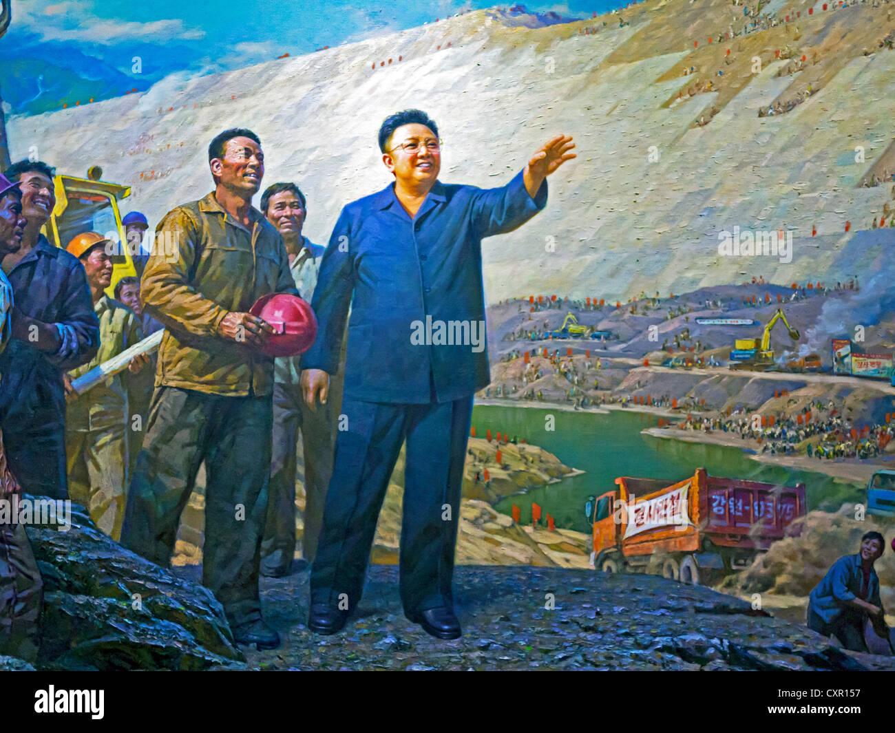 Democratic Peoples's Republic of Korea (DPRK), North Korea, Pyongyang, Painting in the Korean Art Museum of - Stock Image