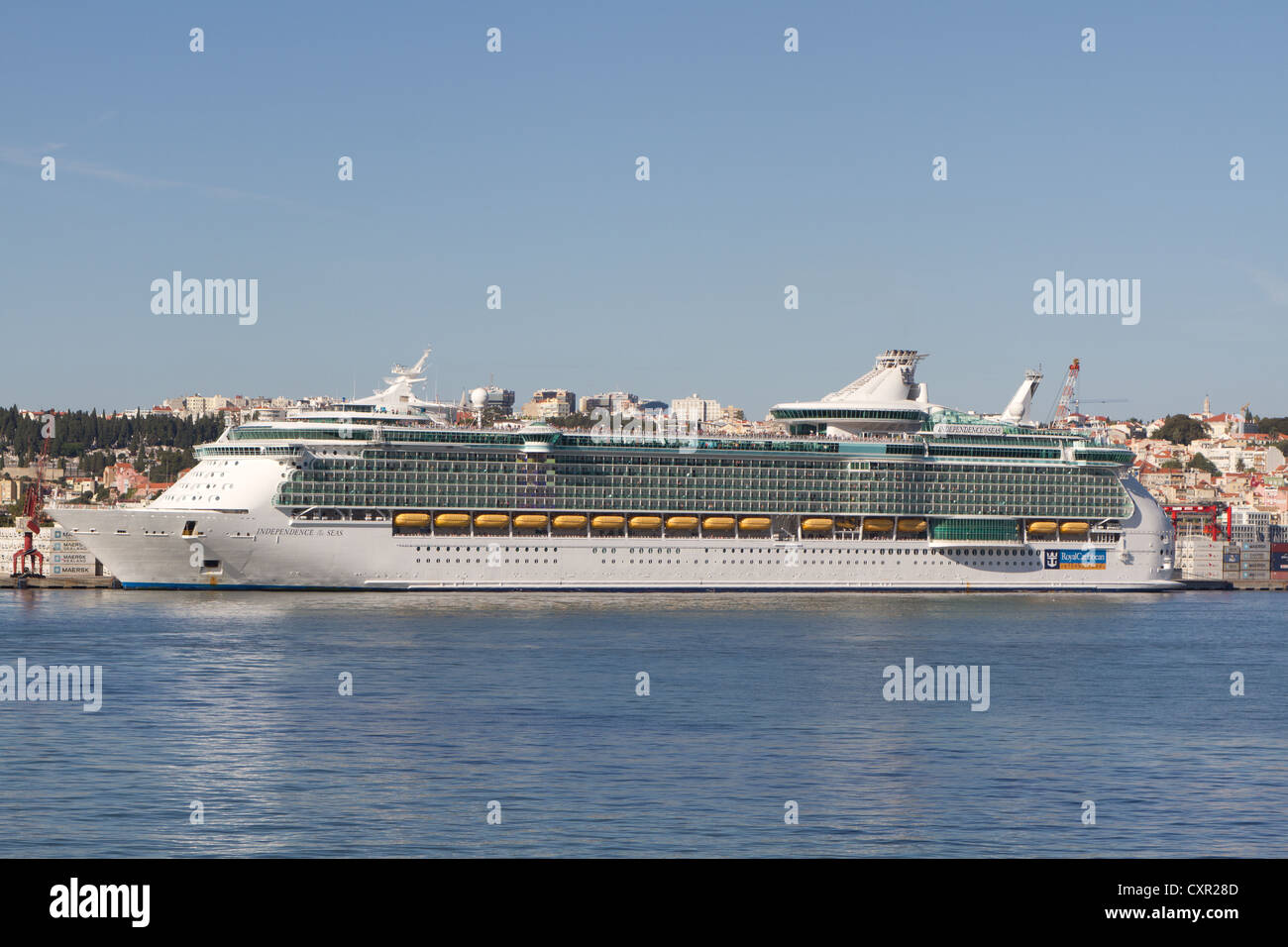 Royal Caribbean Independence of the seas, the biggest cruise ship in the world - Stock Image