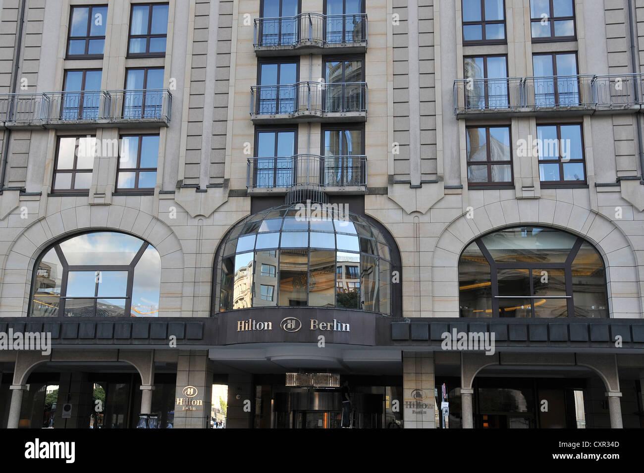 Hotel Hilton luxury luxe Berlin Germany - Stock Image