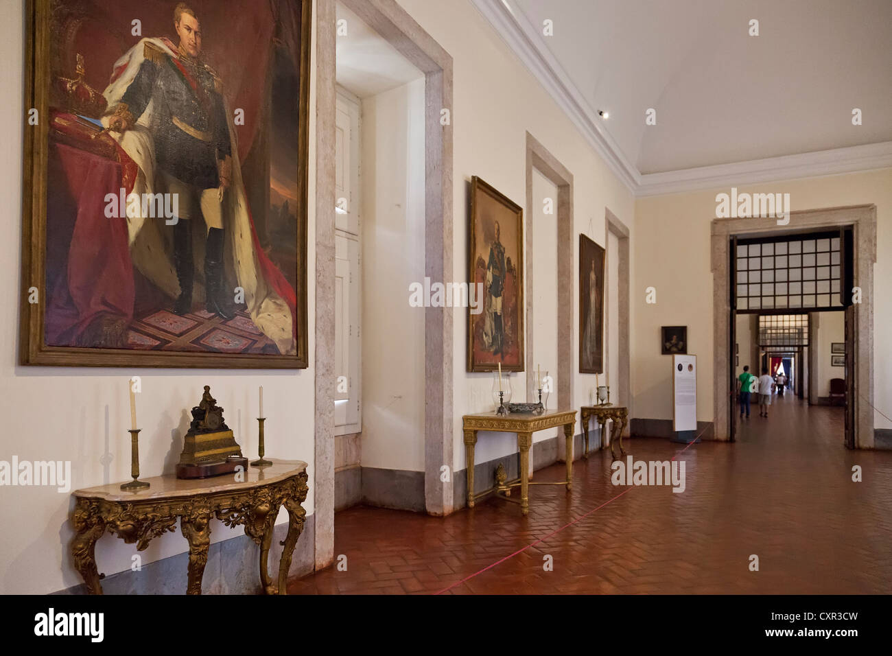 Kings Room. Mafra National Palace, Convent and Basilica in Portugal. Franciscan Religious Order. Baroque architecture. - Stock Image