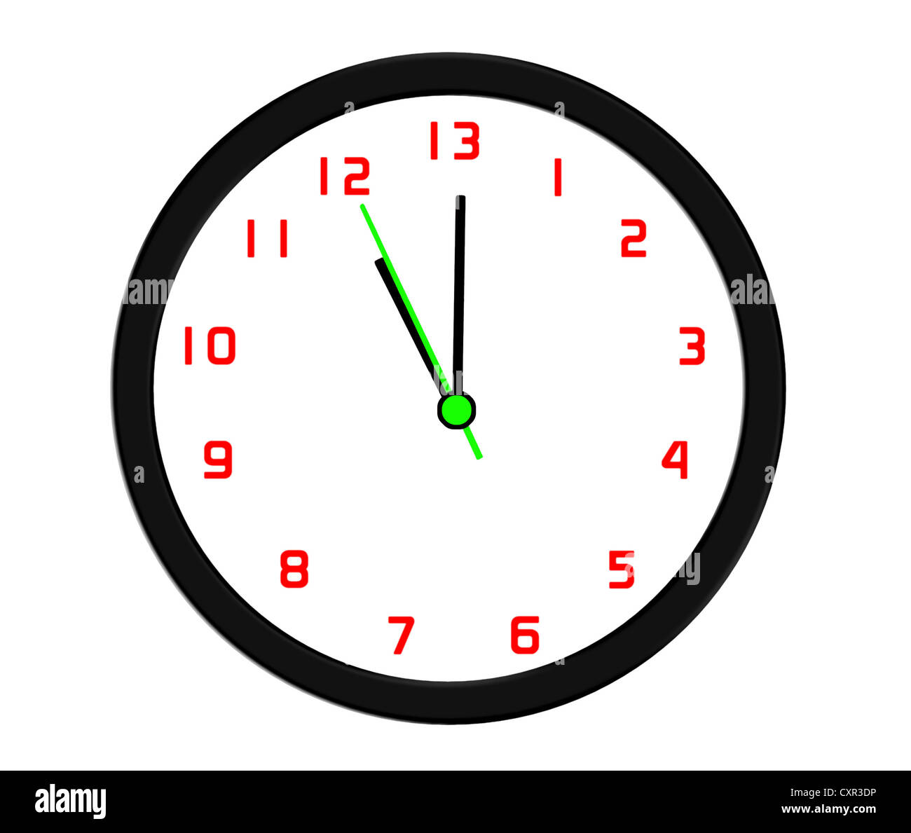 More time in the day - thirteen hours - Stock Image
