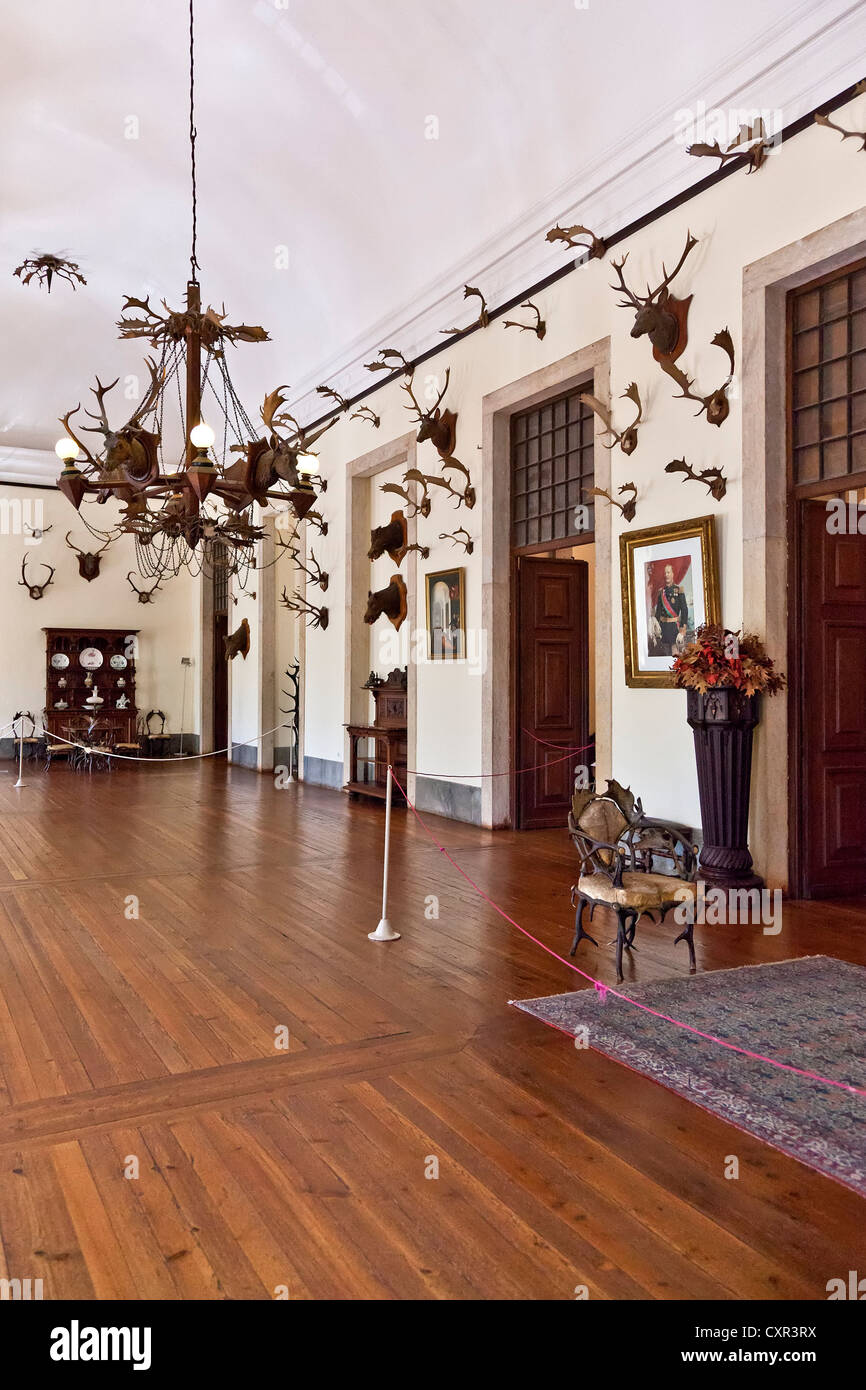 Hunting Game Room. Mafra National Palace, Convent and Basilica in Portugal. Franciscan Religious Order. Baroque - Stock Image