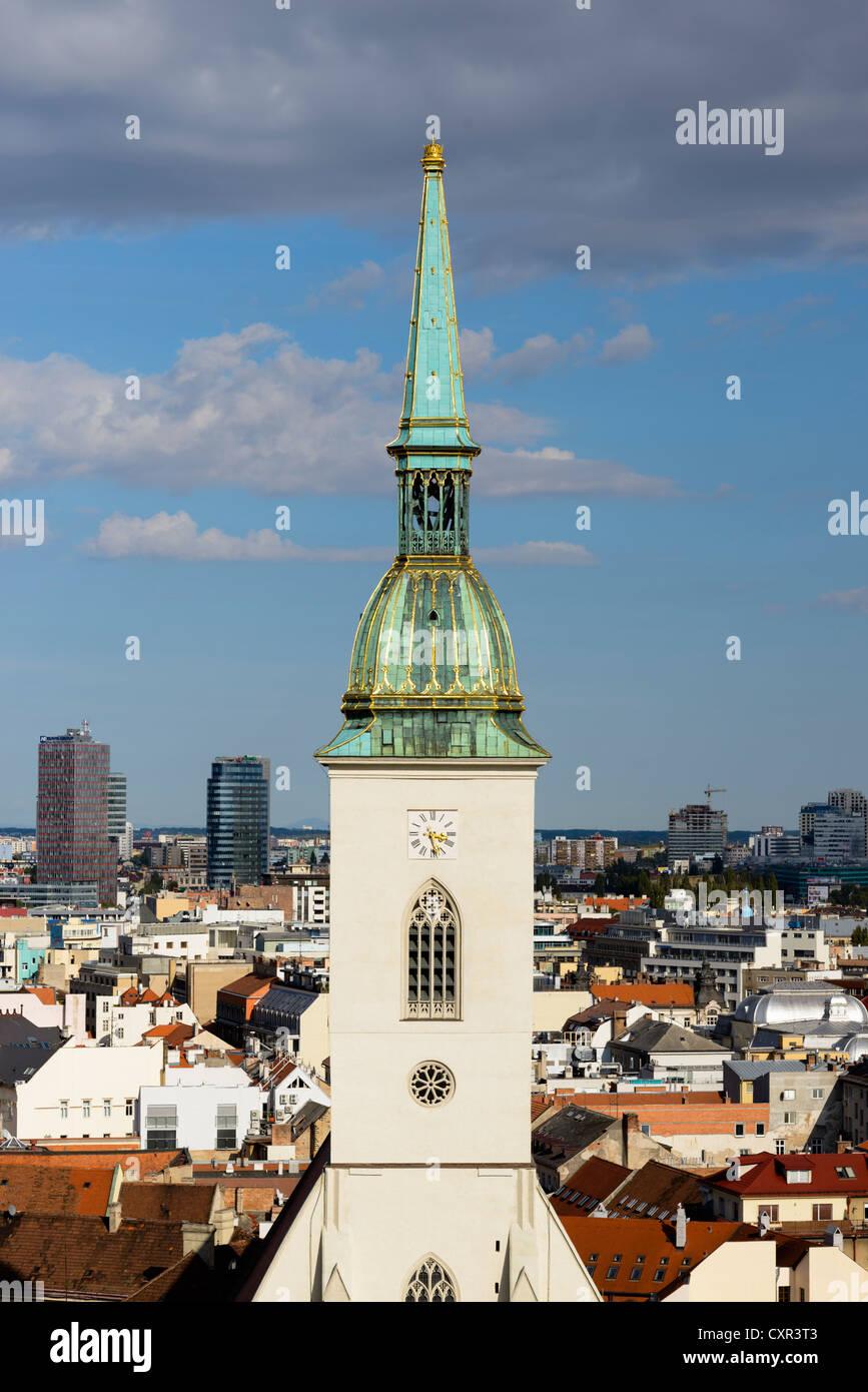 St Martins Cathedral, Bratislava, Slovakia, Europe - Stock Image