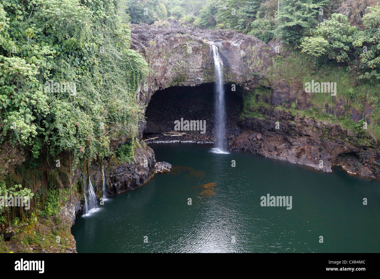 Rainbow Falls, waterfalls, near Hilo, Big Island, Hawaii, USA - Stock Image