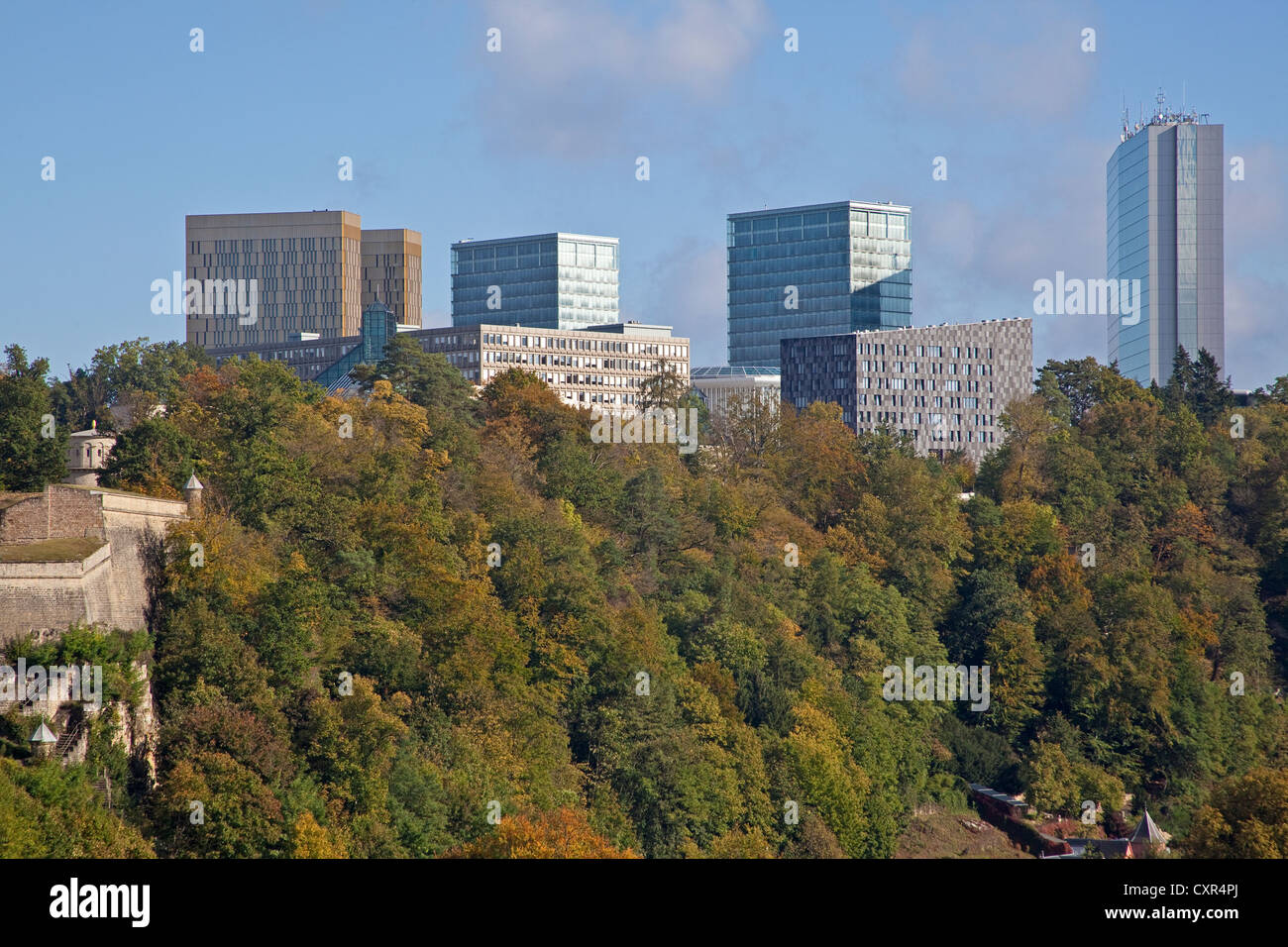 Luxembourg  A view of European Community buildings at Kirchberg - Stock Image