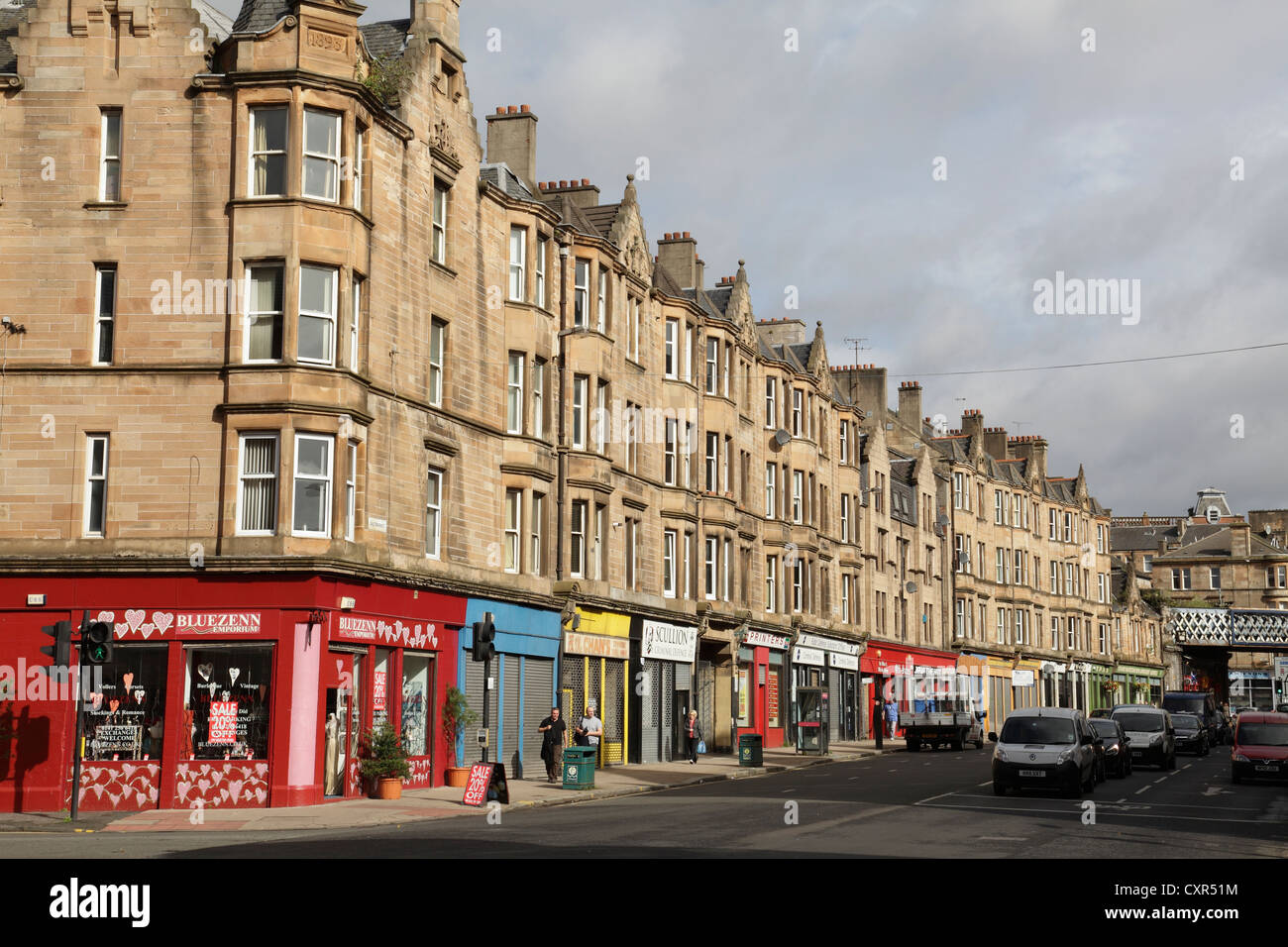 Saltmarket in Glasgow's Merchant City, Scotland, UK - Stock Image