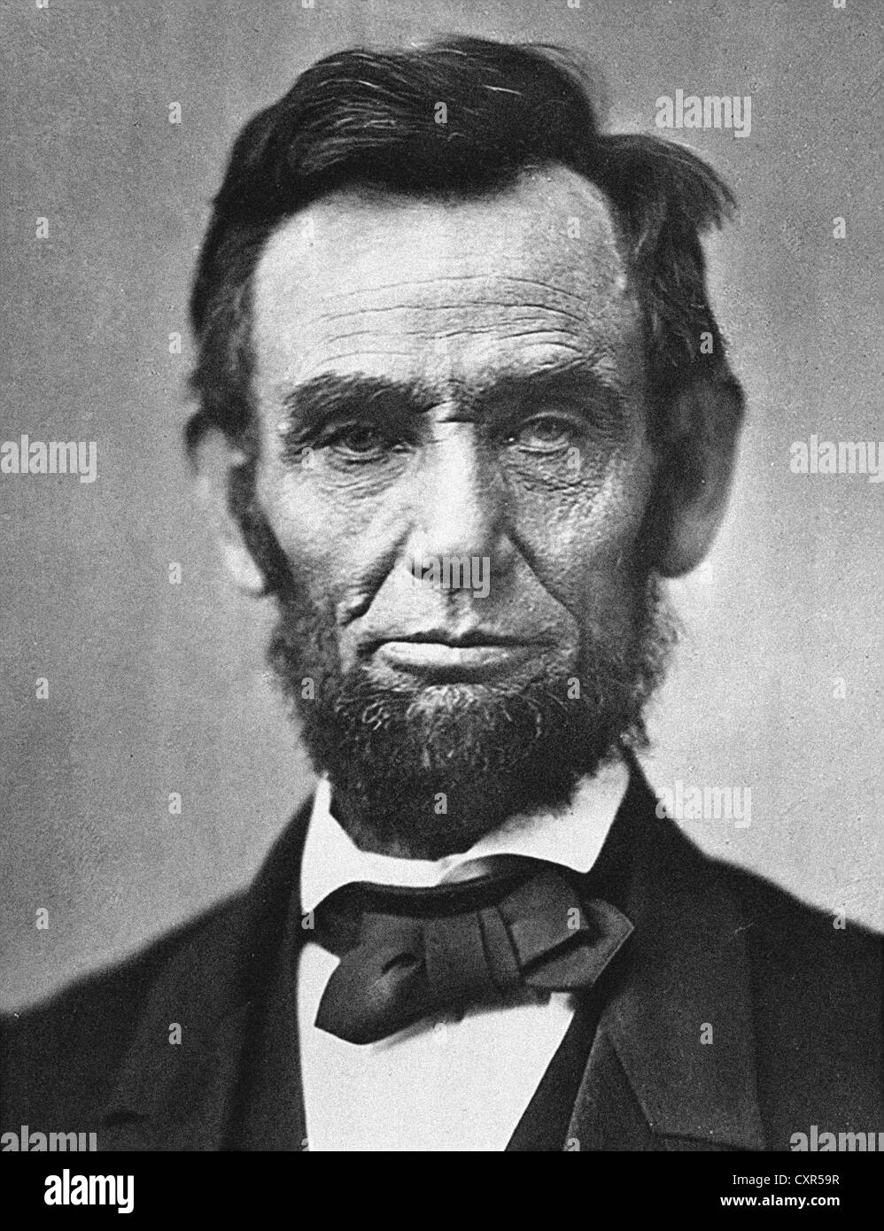 Abraham Lincoln 16th President of the United States - Stock Image