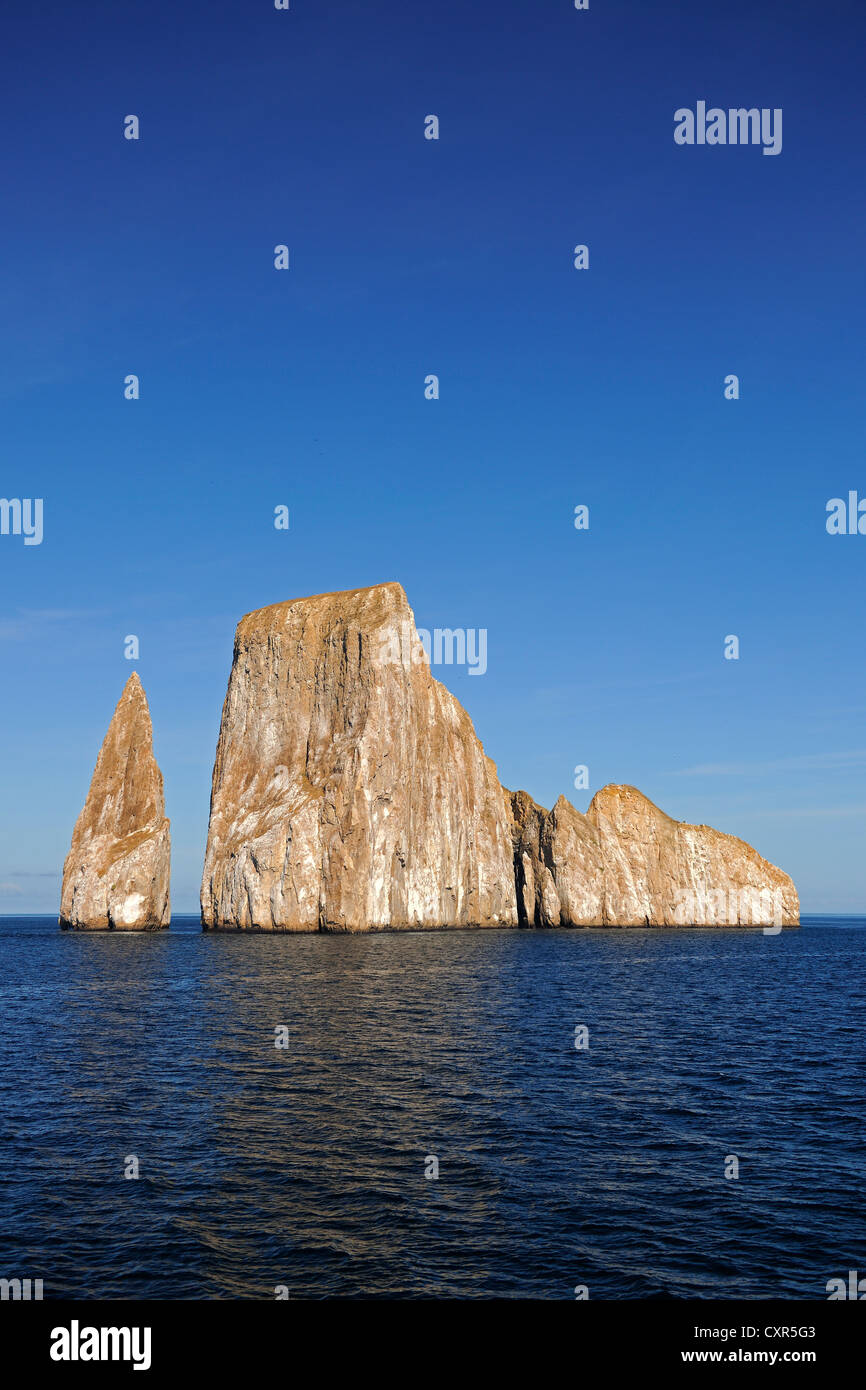 Kicker Rock near San Cristóbal Island, Galapagos Islands, UNESCO World Heritage Site, Ecuador, South America - Stock Image