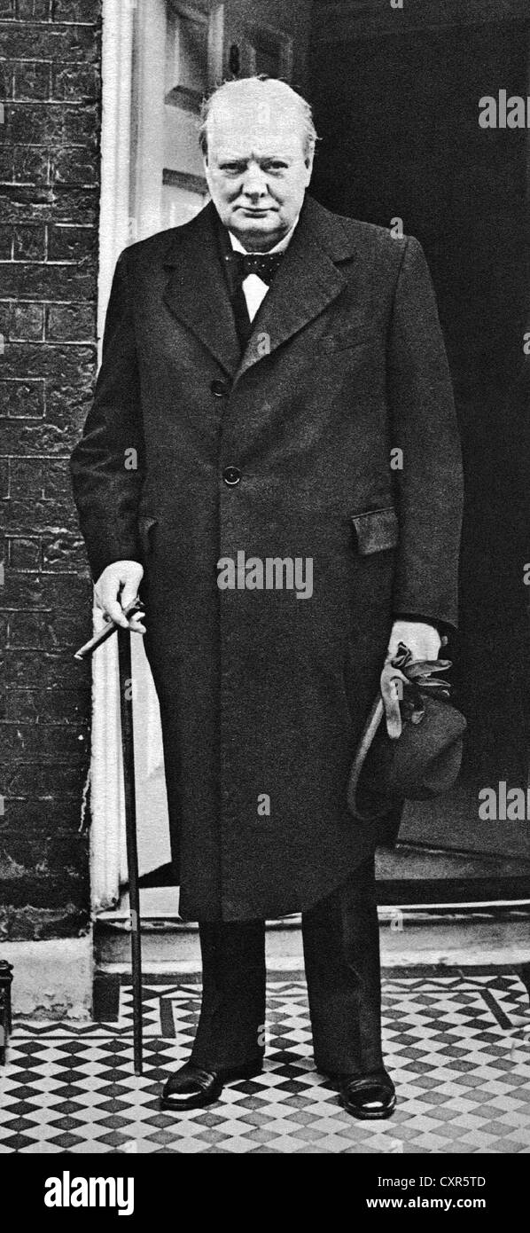 British wartime leader Winston Churchill in a 1939 portrait from the archives of Press Portrait Service (formerly - Stock Image