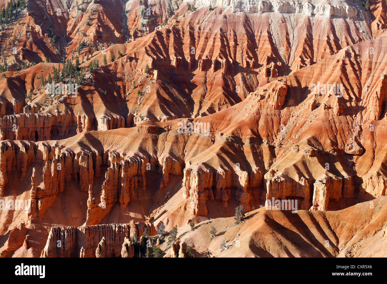Sandstone cliffs in Cedar Breaks National Monument, Brian Head, Utah, USA - Stock Image