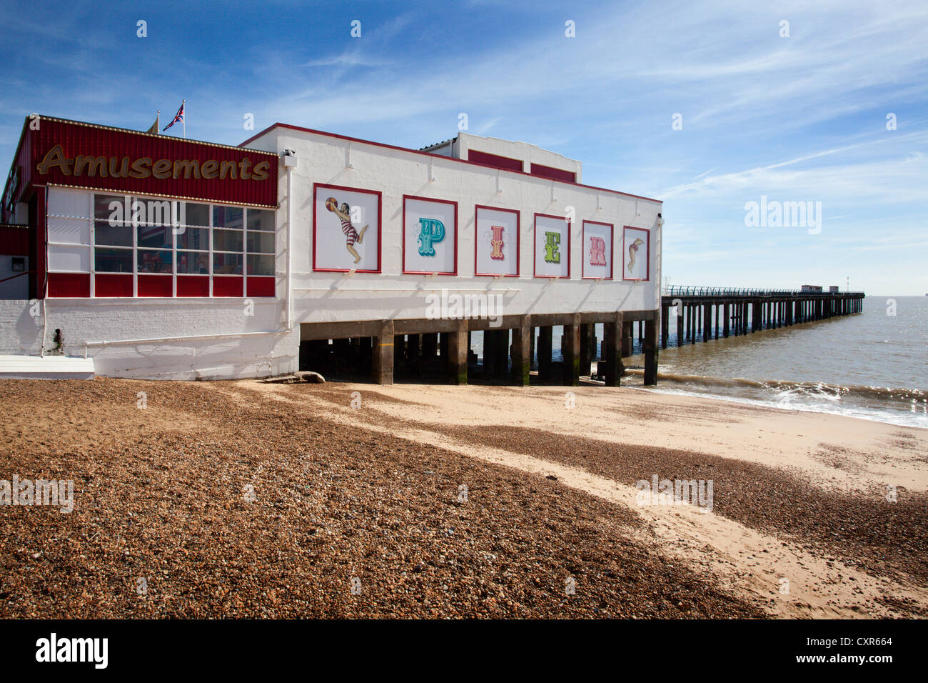 The Pier at Felixstowe Suffolk England - Stock Image
