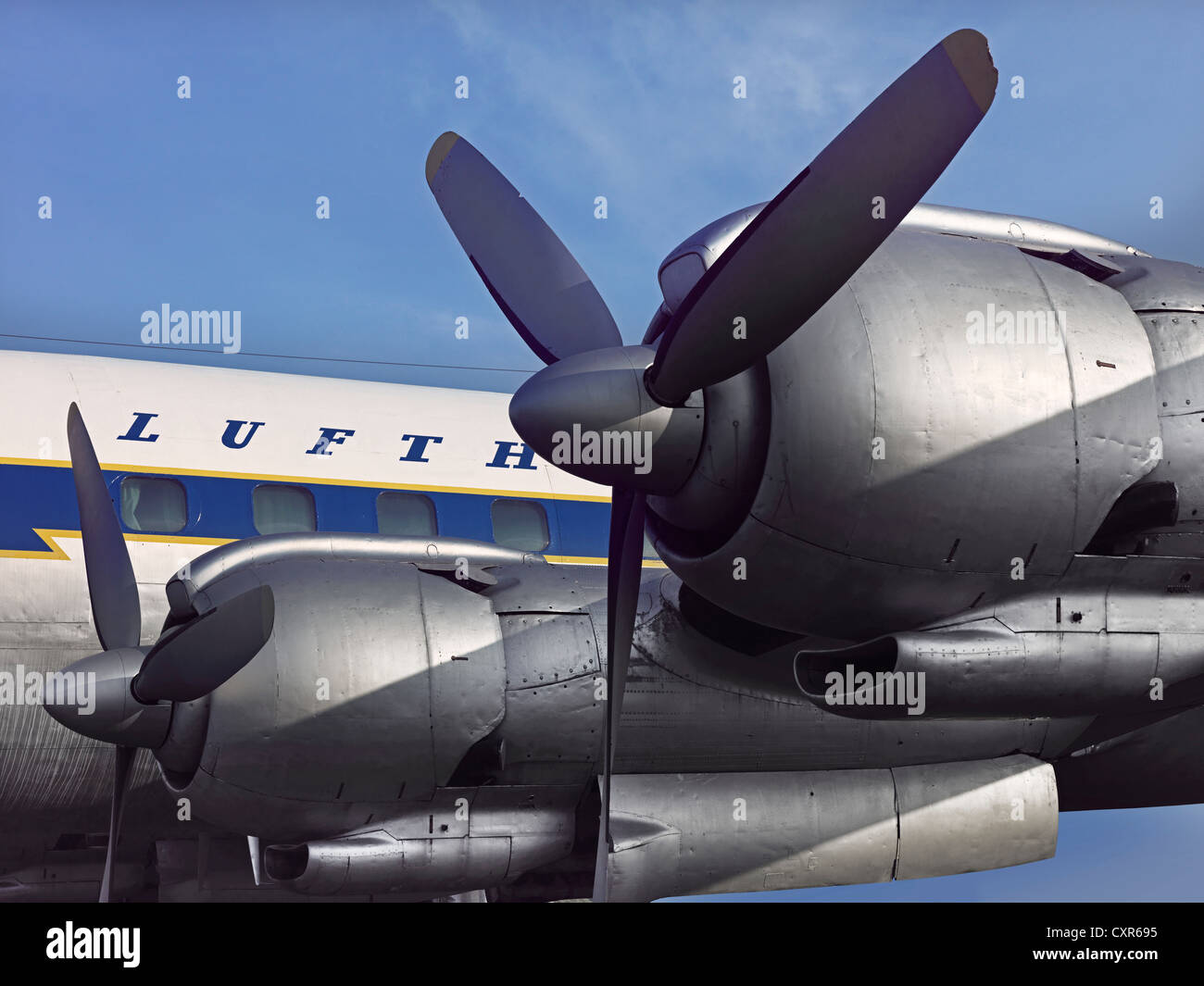 Engines of the Lockheed L-1049 G Super Constellation airplane, registration  D-ALEM