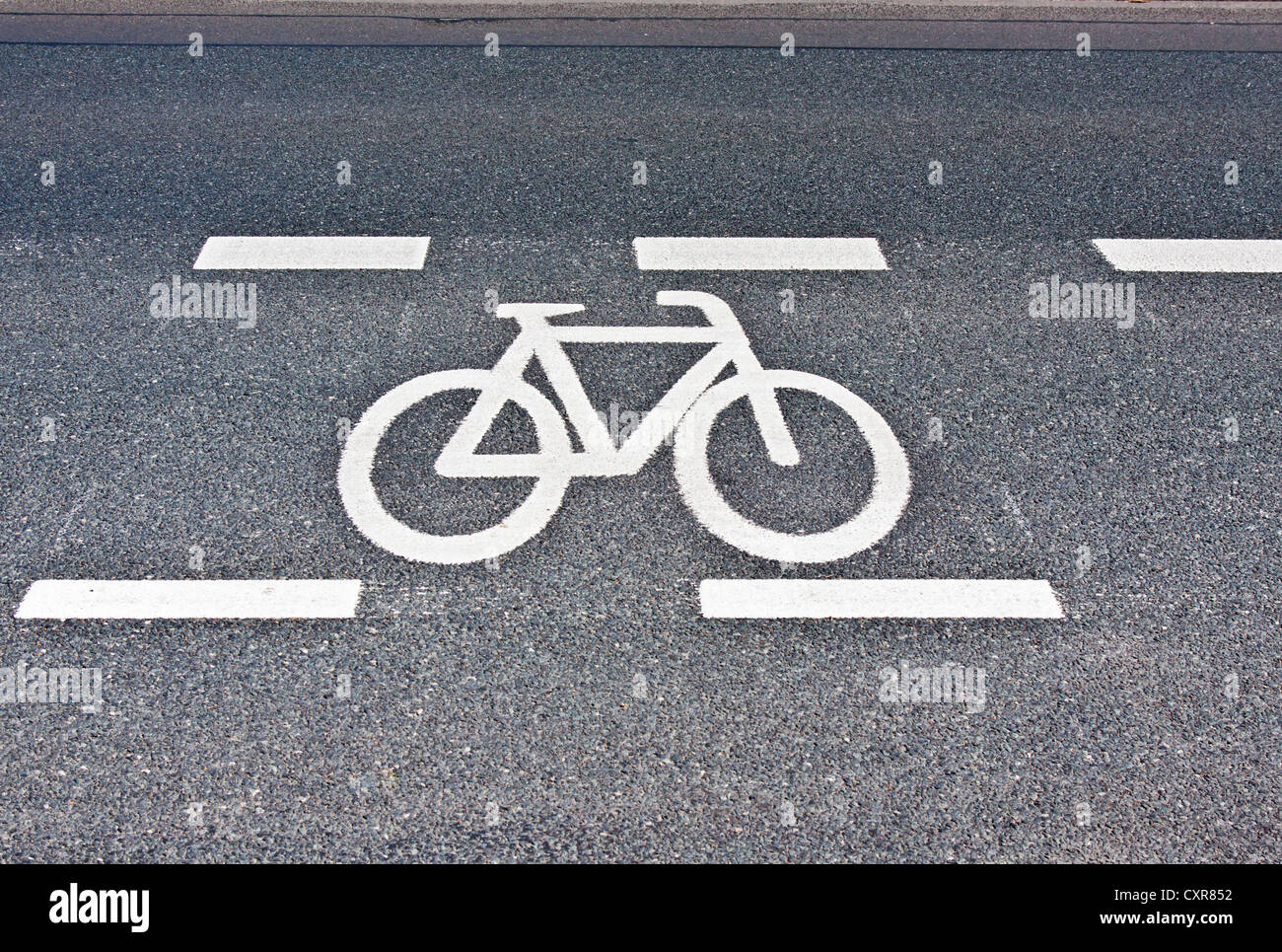 Pictogram, cycle path - Stock Image