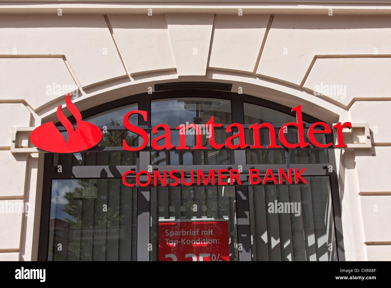 Branch of Santander Bank, consumer bank, Berlin, Germany, Europe - Stock Image