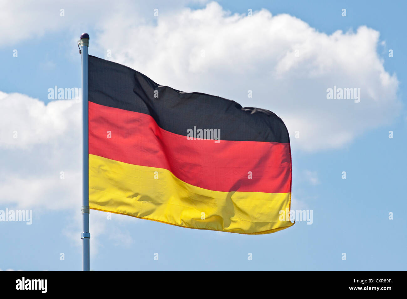 German flag, colours black, red and gold, Germany, Europe - Stock Image