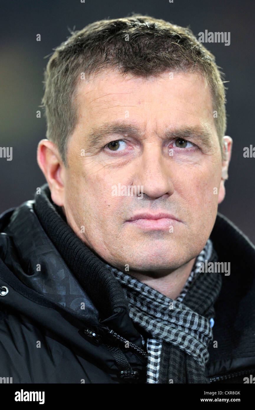 Thomas Strunz, soccer expert, TV presenter, Liga Total TV channel, portrait, Mercedes-Benz Arena stadium, Stuttgart - Stock Image