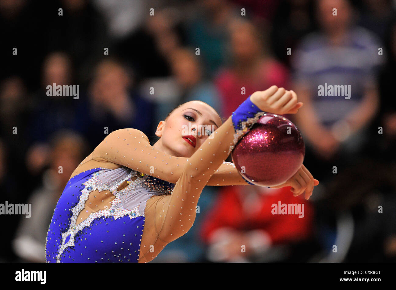 Anna Alyabyeva, KAZ, Kazakhstan, ball, Rhythmic Gymnastics Schmiden International 2012, Fellbach near Stuttgart - Stock Image