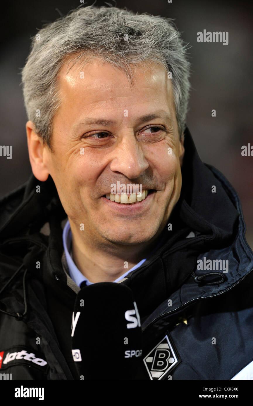 Lucien Favre, coach of Borussia Moenchengladbach, portrait, Mercedes-Benz Arena, Stuttgart, Baden-Wuerttemberg, - Stock Image