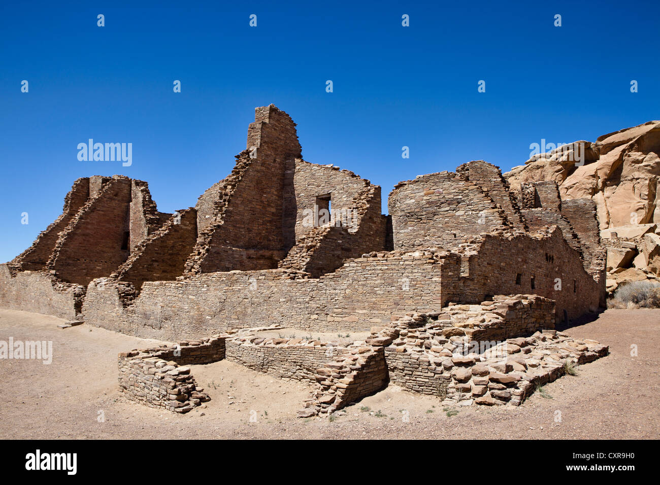 Chaco, National Historical Park, World Heritage Site, New Mexico, USA Stock Photo
